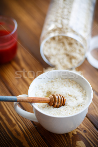 Healthy breakfast, oatmeal Stock photo © Peredniankina