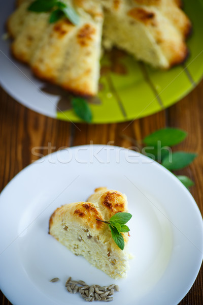 curd rice casserole stuffed sunflower seeds Stock photo © Peredniankina