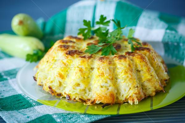 Rice casserole with zucchini Stock photo © Peredniankina