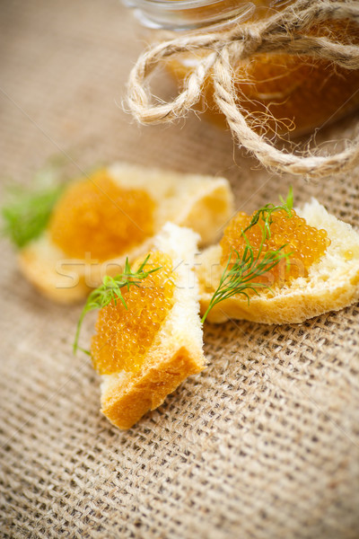 Pão caviar tabela comida peixe Foto stock © Peredniankina