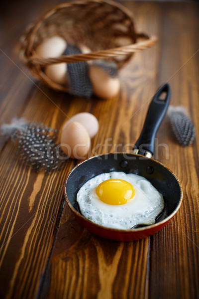 fried eggs in a frying pan Stock photo © Peredniankina
