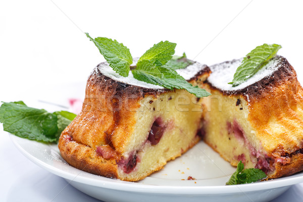 cheese muffins with berry filling Stock photo © Peredniankina