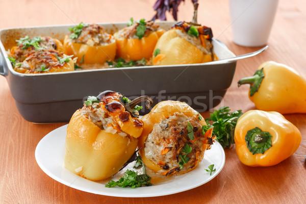 фаршированные перцы с курицей и рисом отдых