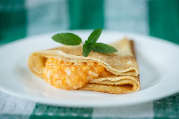 pancakes with pumpkin Stock photo © Peredniankina