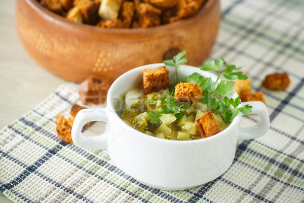 vegetable soup with pickled cucumbers  Stock photo © Peredniankina