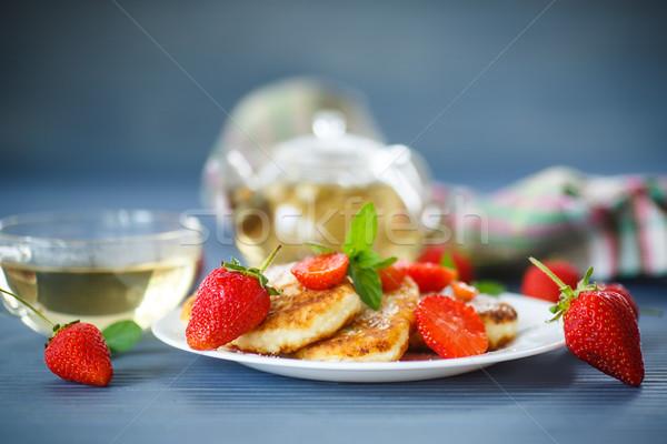 curd cheese pancakes fried  Stock photo © Peredniankina