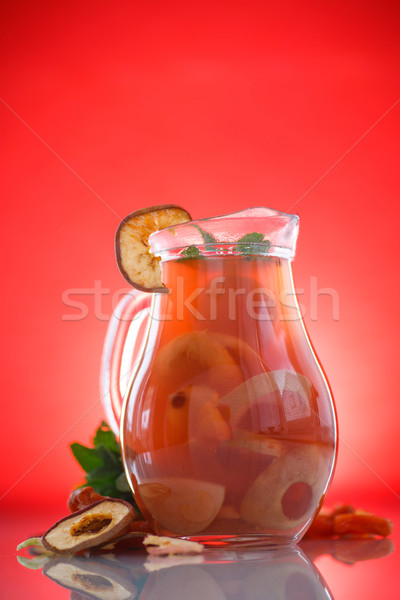 compote of dried fruits in a carafe Stock photo © Peredniankina