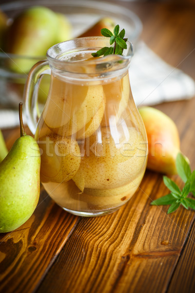 sweet pear compote in a decanter Stock photo © Peredniankina