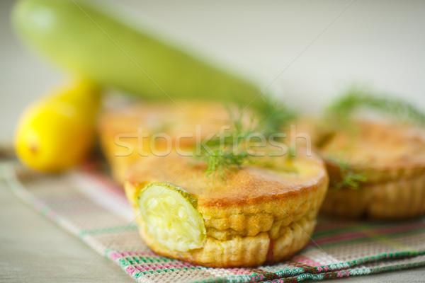 Cukinia ser boczek żywności Zdjęcia stock © Peredniankina