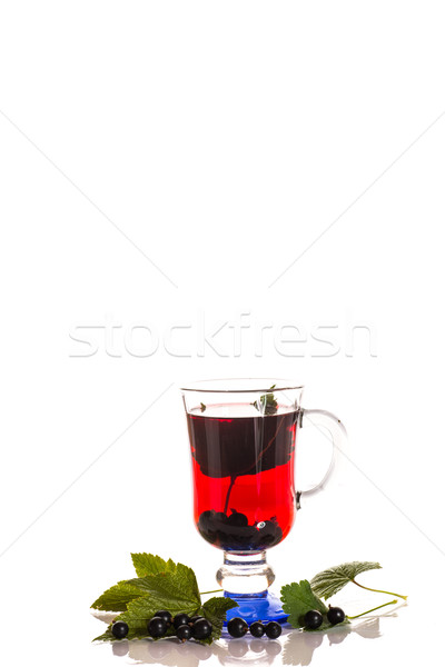 tea with black currants Stock photo © Peredniankina
