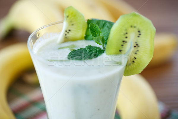 smoothie with kiwi and banana Stock photo © Peredniankina