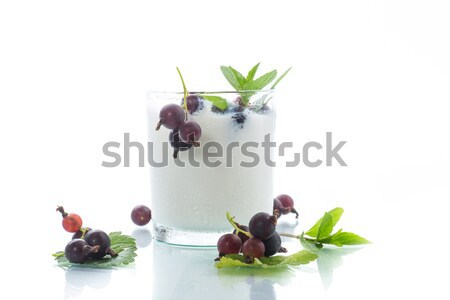 sweet milk yogurt with prunes Stock photo © Peredniankina