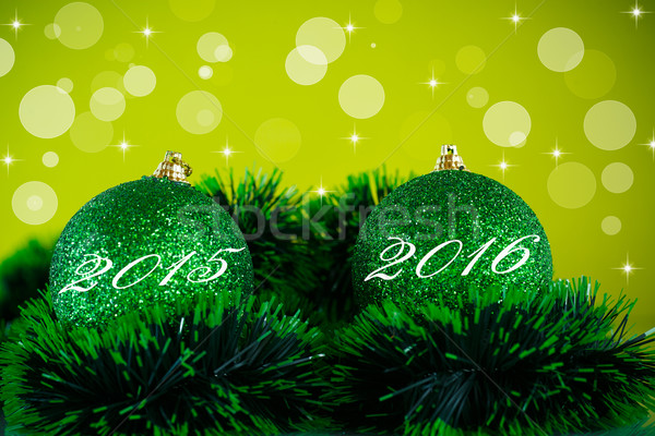 Boldog új évet karácsony labda dekoráció absztrakt hó Stock fotó © Peredniankina
