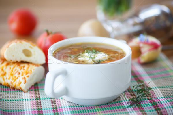 vegetable soup Stock photo © Peredniankina