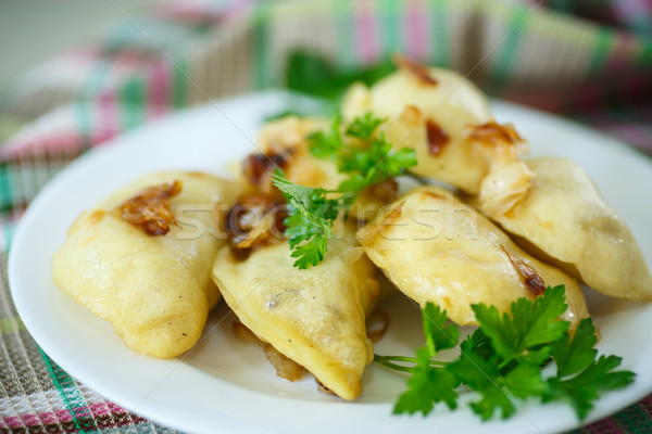 Stock photo: dumplings stuffed with