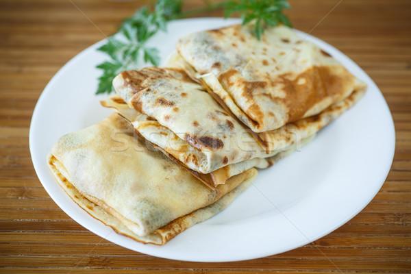 Pancakes with meat Stock photo © Peredniankina