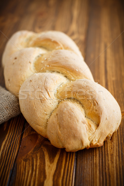 bread in the form of braids Stock photo © Peredniankina