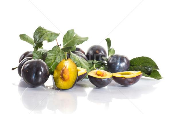 Rip plums Stock photo © Peredniankina