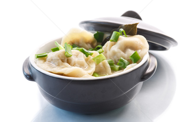 dumplings with meat and broth Stock photo © Peredniankina