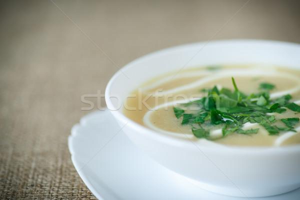 Сток-фото: суп · сметана · белый · пластина · продовольствие