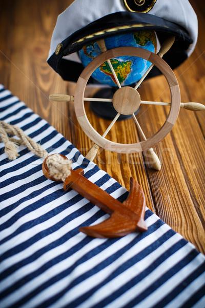 Decorative wooden steering wheel  Stock photo © Peredniankina