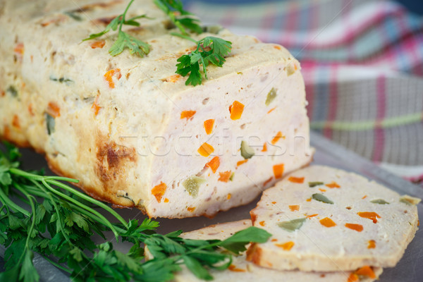 Chicken meatloaf with vegetables Stock photo © Peredniankina