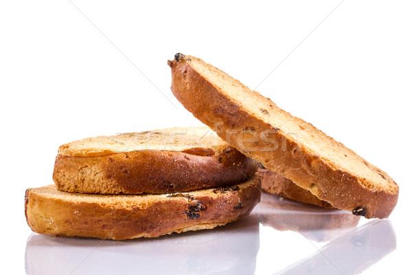 Ekmek kırıntıları tatlı beyaz arka plan yemek Stok fotoğraf © Peredniankina