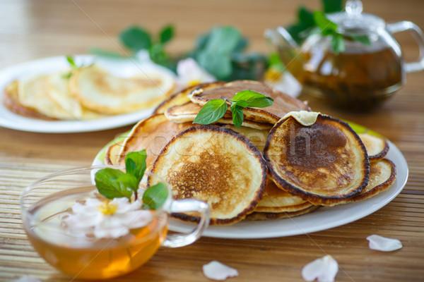 sweet delicious pancakes Stock photo © Peredniankina