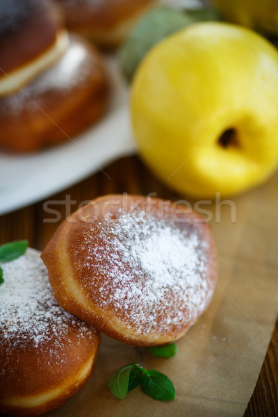 donuts with quince filling sprinkled Stock photo © Peredniankina
