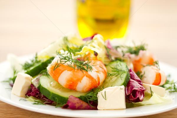 新鮮な サラダ エビ 野菜 葉 ストックフォト © Peredniankina
