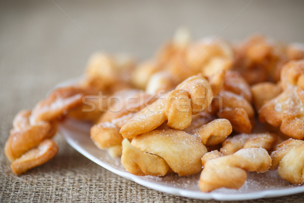 édes sütemény mély sült porcukor buli Stock fotó © Peredniankina