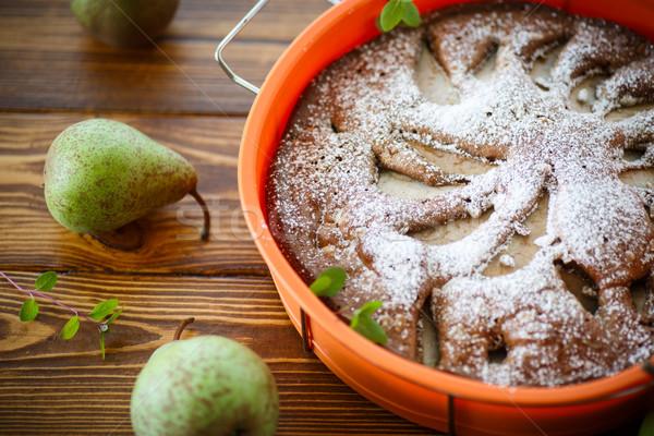 cake with pears Stock photo © Peredniankina