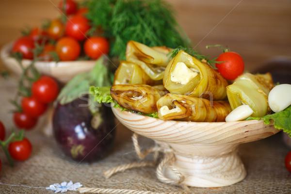 Eggplant rolls Stock photo © Peredniankina