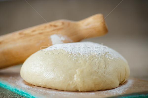酵母 生 小麦粉 木板 背景 パン ストックフォト © Peredniankina
