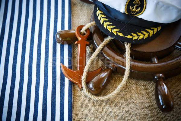 Decorativo buque mar diseno fondo Foto stock © Peredniankina