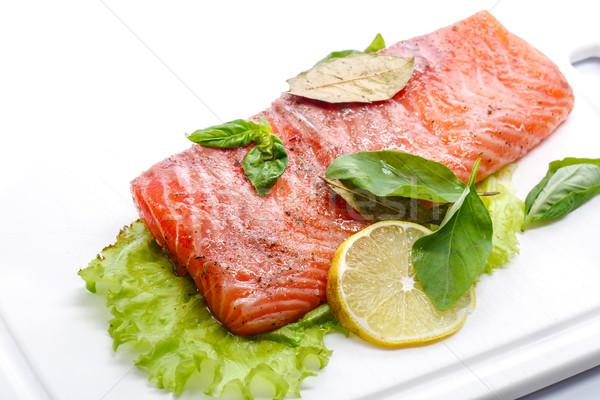 salted salmon fillets Stock photo © Peredniankina