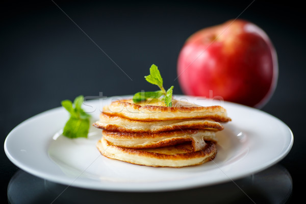 fried fritters with apples Stock photo © Peredniankina