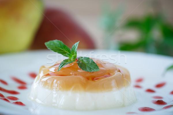 dairy dessert panna cotta Stock photo © Peredniankina