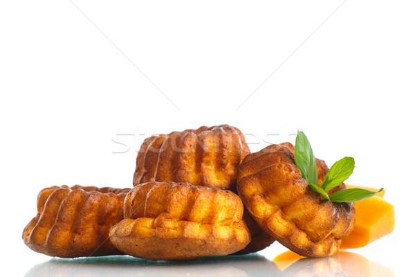 Pompoen muffins zoete witte achtergrond Stockfoto © Peredniankina