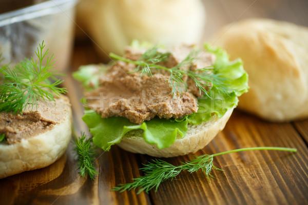 pate with bread Stock photo © Peredniankina