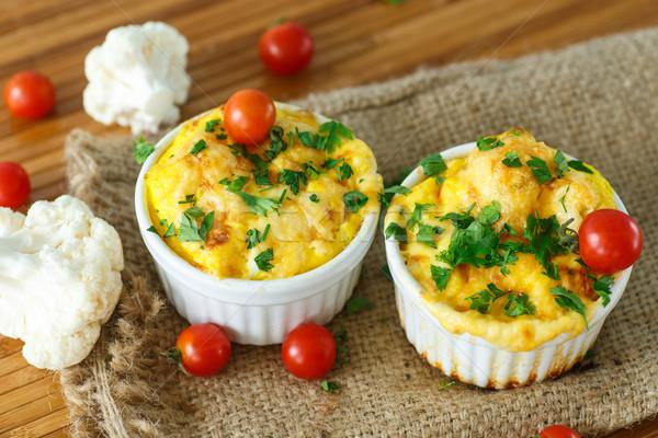 Couve-flor queijo prato tabela Foto stock © Peredniankina