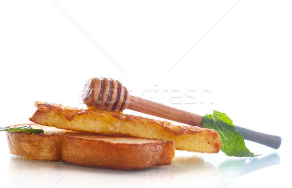 fried in batter toast with honey Stock photo © Peredniankina
