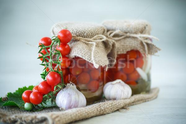 canned tomatoes Stock photo © Peredniankina