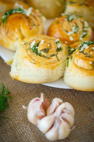 ニンニク ガーリックブレッド 食品 パン ディナー ストックフォト © Peredniankina