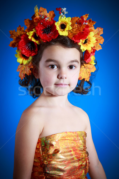 cute girl in autumn dress  Stock photo © Peredniankina