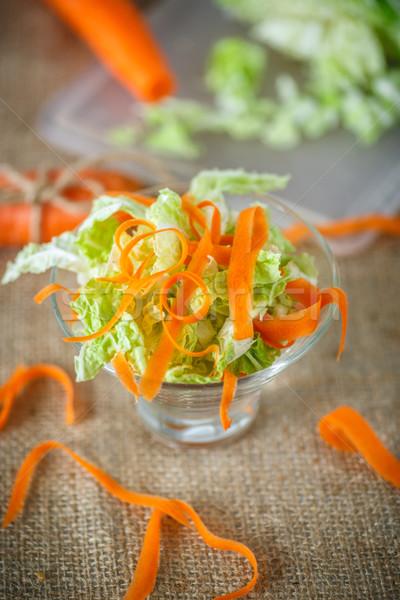 サラダ 新鮮な 切り キャベツ 人参 表 ストックフォト © Peredniankina