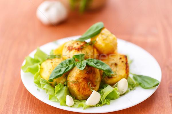 ストックフォト: ニンニク · 食品 · 緑 · 葉