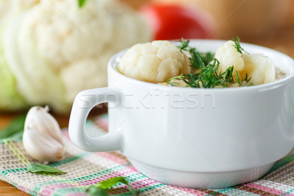 cauliflower soup Stock photo © Peredniankina