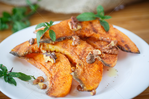 Abóbora doce laranja prato salada Foto stock © Peredniankina