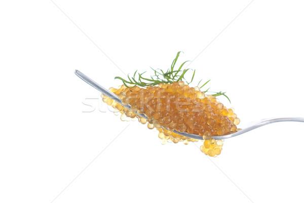 Caviale vetro jar tavola pesce arancione Foto d'archivio © Peredniankina